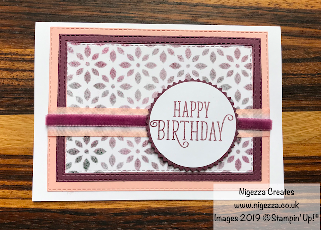 Stampin' Up! Delicately Detailed: 6 cards with 3 panels Nigezza Creates