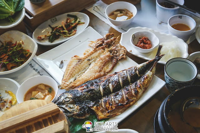 Grilled Tilefish and Hairtail Fish @ Hwa Mok Won 화목원