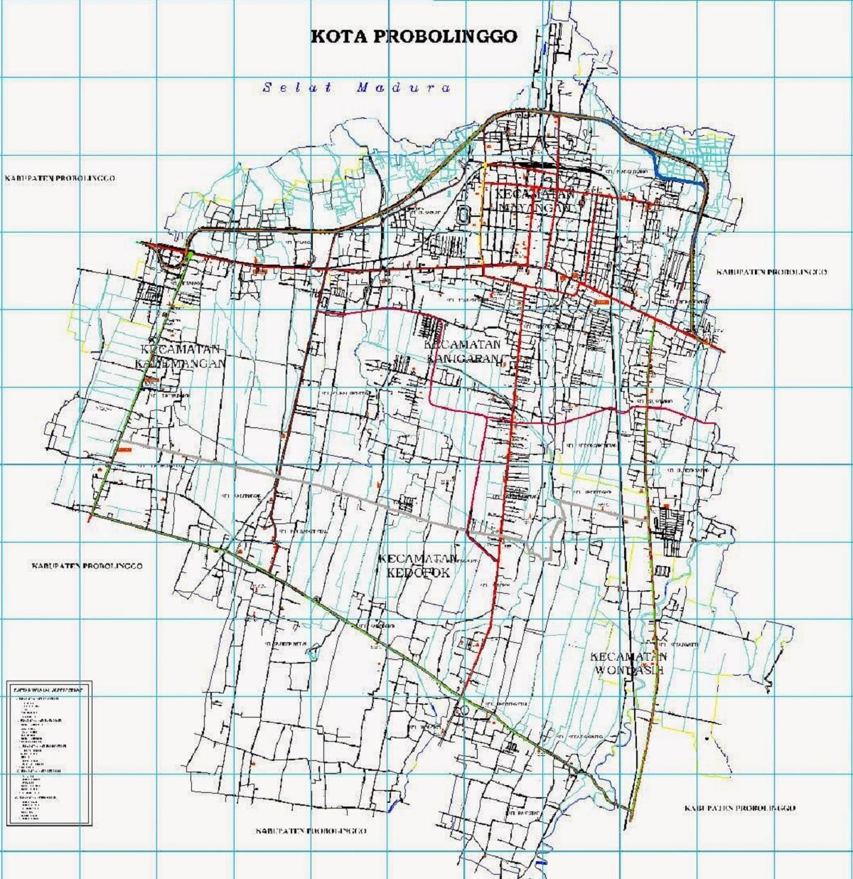 Gambar Peta Kota Probolinggo HD
