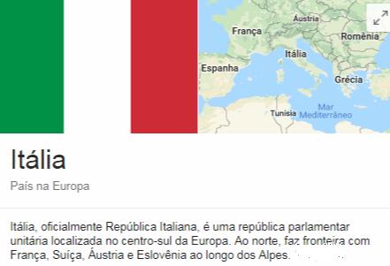 Itália, oficialmente República Italiana