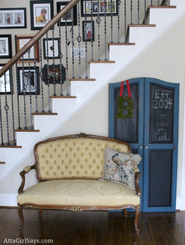 Atta Girl Says Foyer Sette- How I Found My Style Sundays- From My Front Porch To Yours