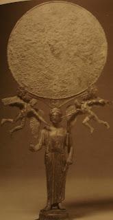 Miroir bronze erotes