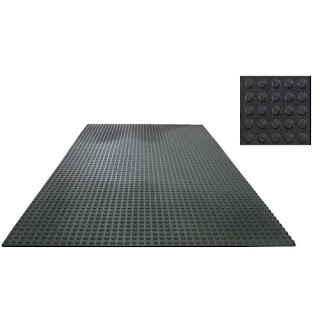 Greatmats Button Top 4x6 Foot x 3/8 inch Straight Edge Horse Wash Bay Rubber Mat