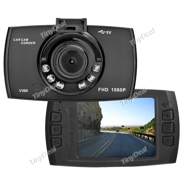 V300 FHD 1280*1080P 2.4 Inch TFT LCD Car DVR Dash Camera 140 degree Wide Angle
