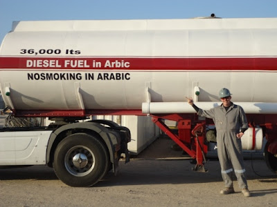 Fuel Tanker Truck Warning Notice In Arabic
