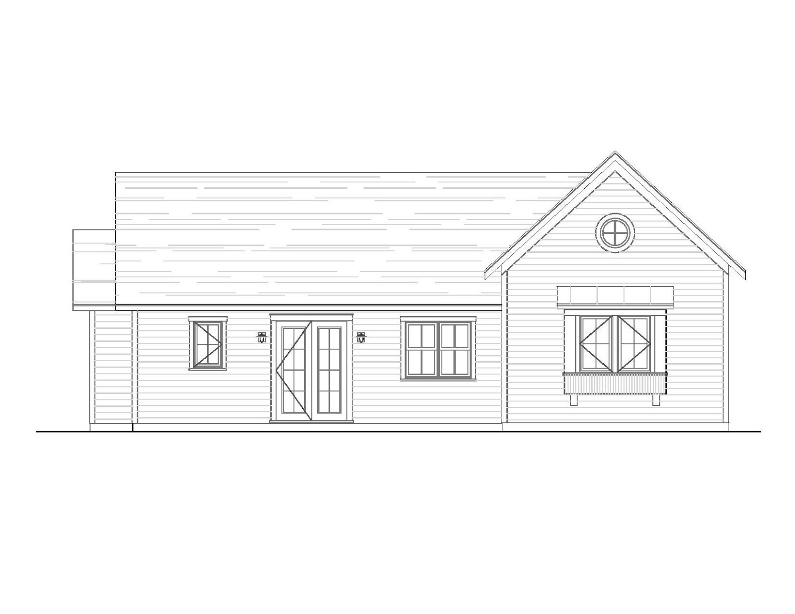 First take a look at the drawing of the front elevation above its flat and it may be difficult to completely understand what all the lines around that
