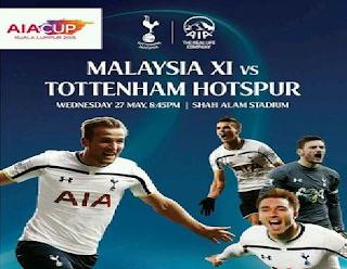 Keputusan Pilihan Malaysia Vs Tottenham Hotspur 27 Mei 2015