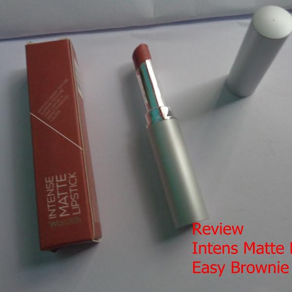 Review Intens Matte Lipstik Easy Brownie