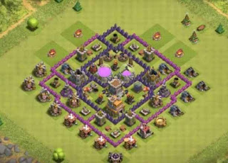Susunan Base Clash of Clans Town Hall 7 Farming