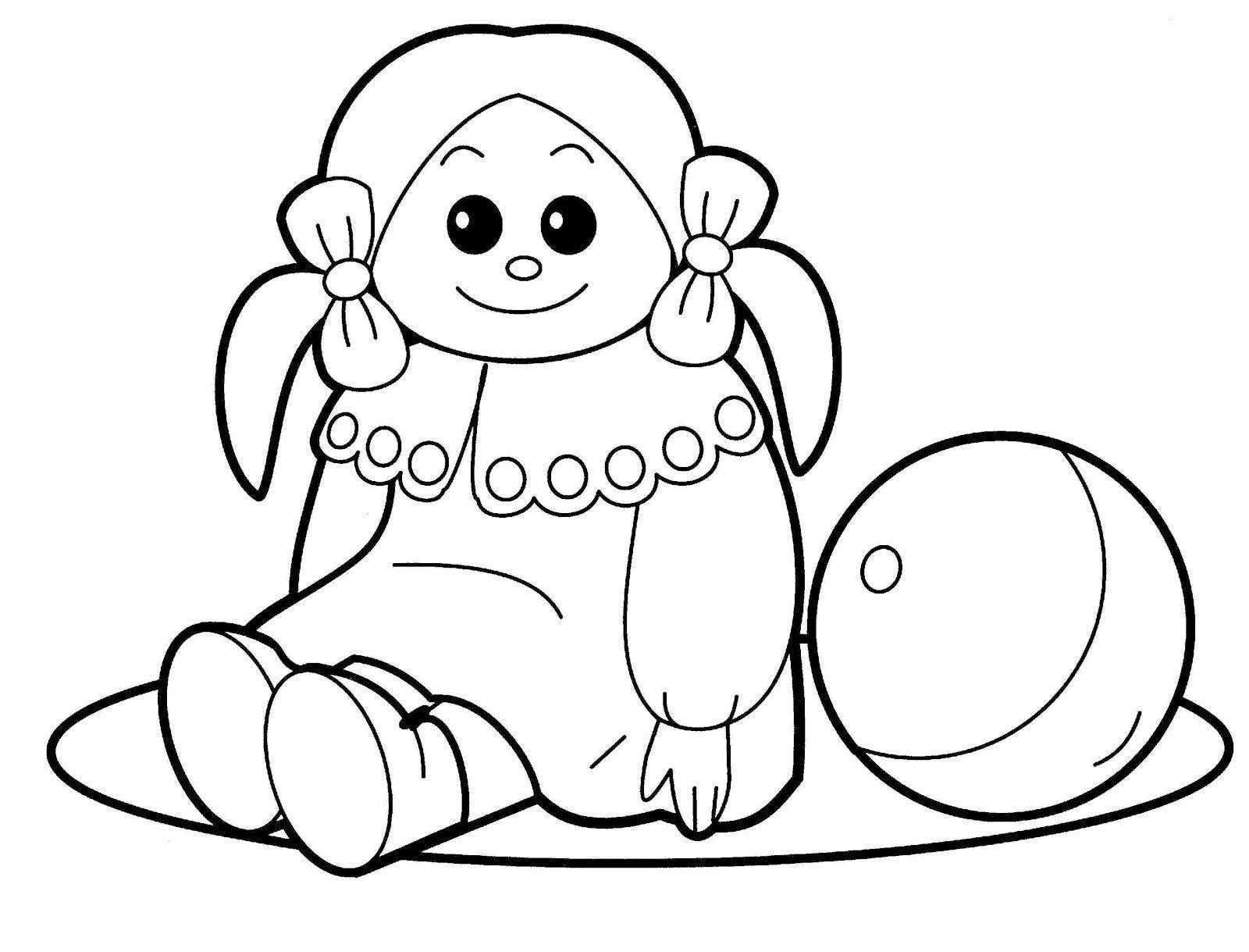 Desenho De Bonecas Para Colorir