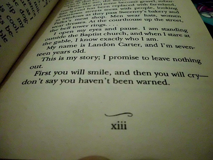a walk to remember book quotes with page numbers - photo #3