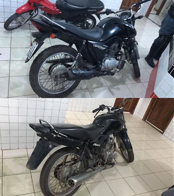 Polícia Militar recupera duas motos roubadas em Chapadinha.