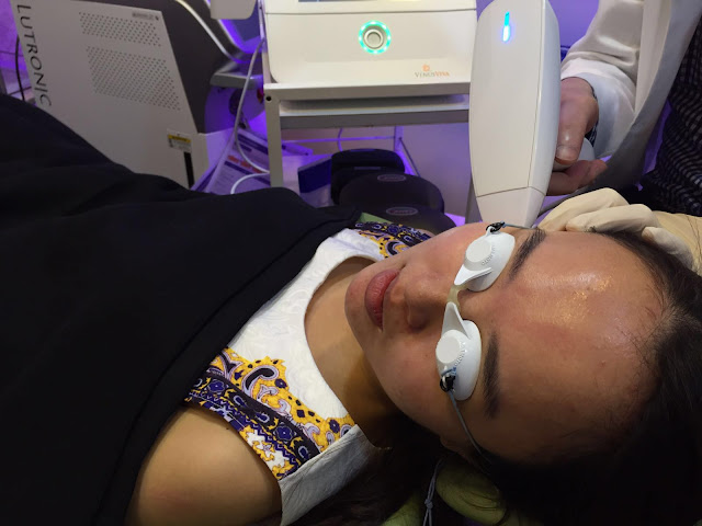 During the process of Venus Viva Nano Fractional Treatment