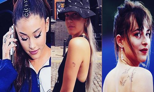 Koleksi Tato Simple Milik Ariana Grande, Anne Marie dan Dakota Johnson