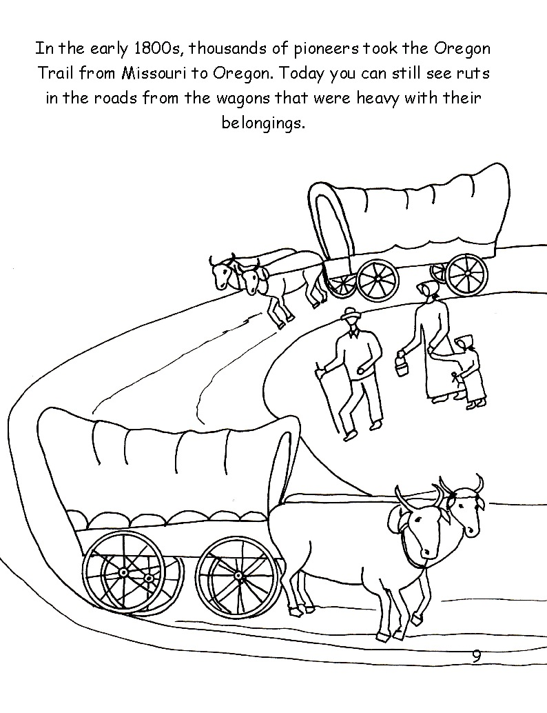 coloring pages of oregon trail - photo#18