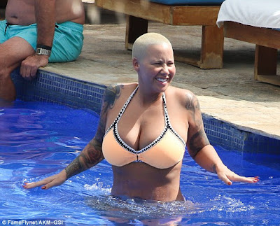 Amber Rose shows off her curves in Bikini as she continues her vacation in Hawaii