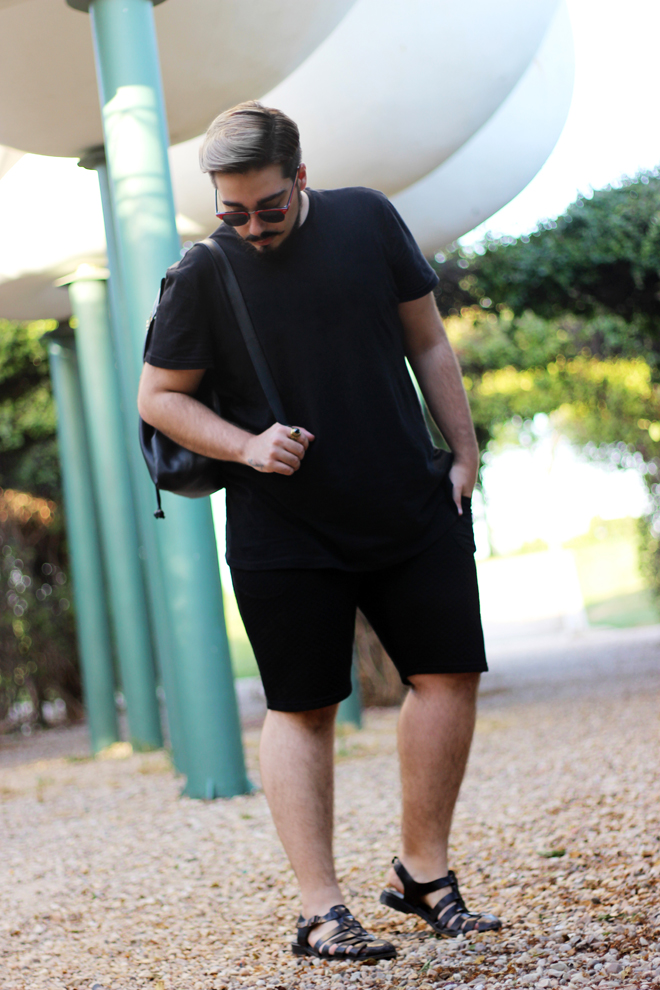 Summer Total black outfit Enzo Coldriver