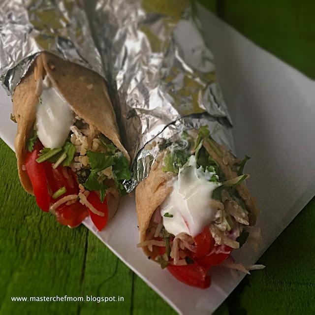 Desi Burrito  Garbanzo Bean and Spinach Burrito   Indo- Mexican Fusion Recipe
