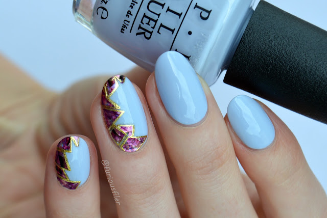 opi softshades holographic side half moon stickers