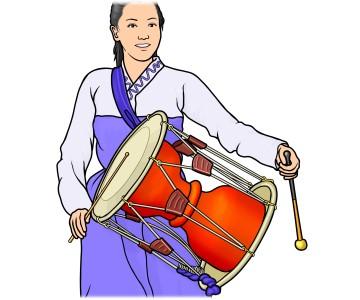 韓国の チャンゴ (杖鼓/ 장구)