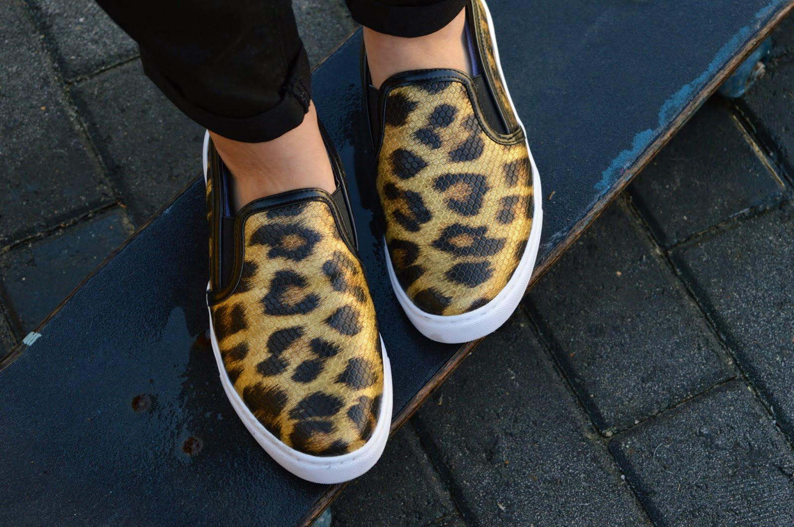 44a736e6e4b4 Slip On/Skate Shoes are a trend that a lot of people enjoyed last year, and  towards the back end of 2014 I got myself this leopard print pair from  River ...