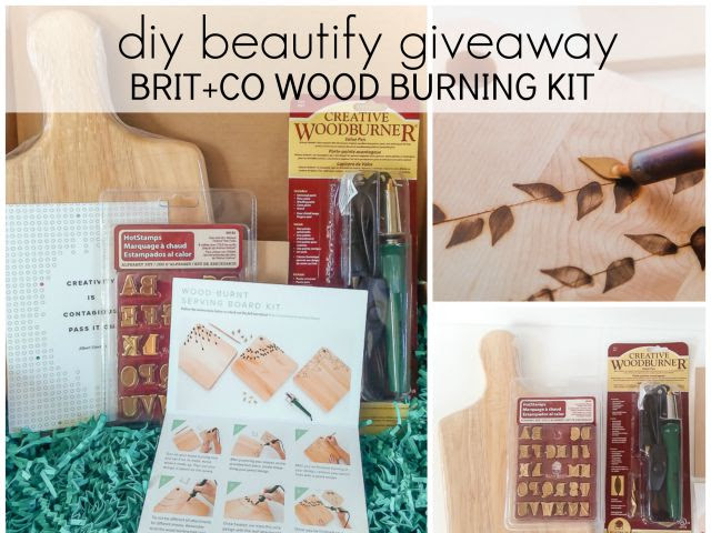 DIY Inspiration for Wood Burning Tool and Giveaway