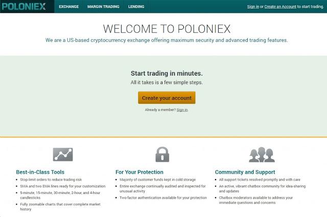 Sàn Poloniex - giao dịch tiền điện tử và cách lướt sóng kiếm tiền 1