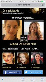 My Celebrity Match - Giada De Laurentis