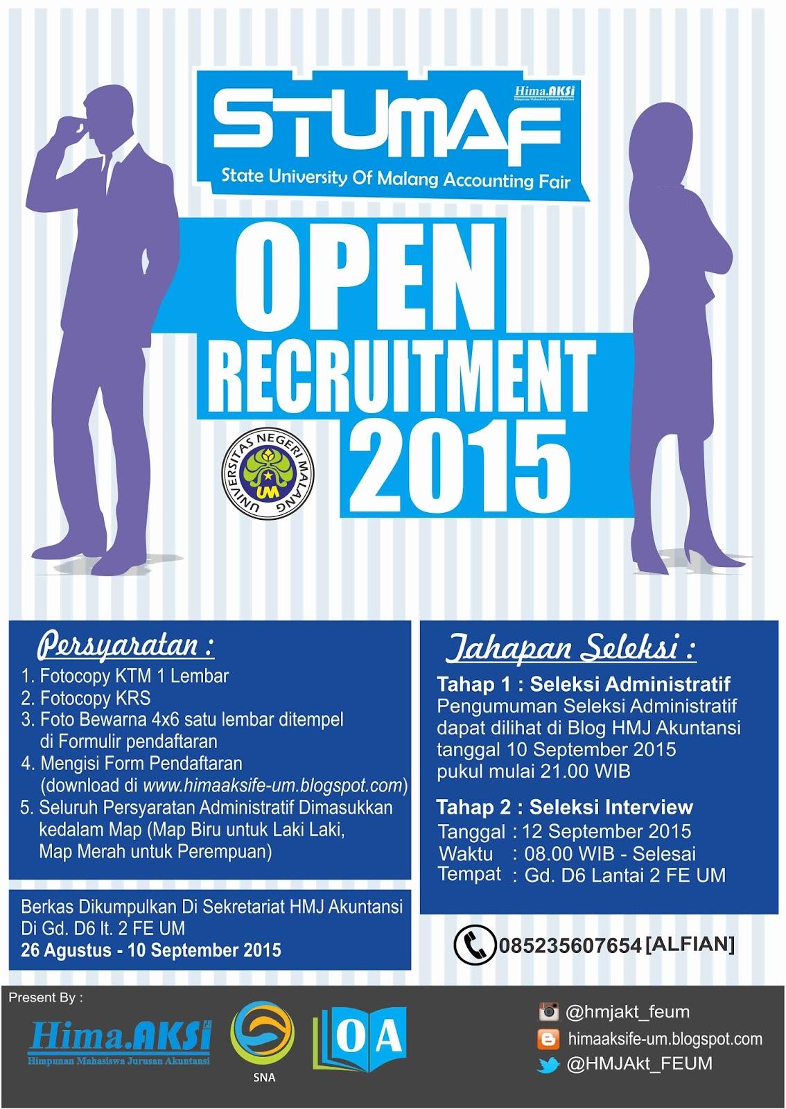 Open Recruitment Panitia Stumaf State University Accounting Fair
