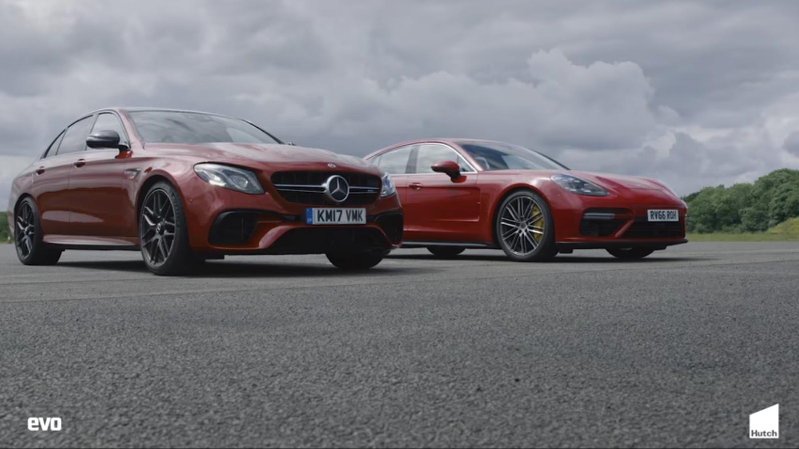 Drag Race Mercedes AMG E63 S vs Porsche Panamera Turbo (Video ...