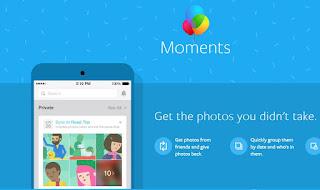 Moments app Facebook