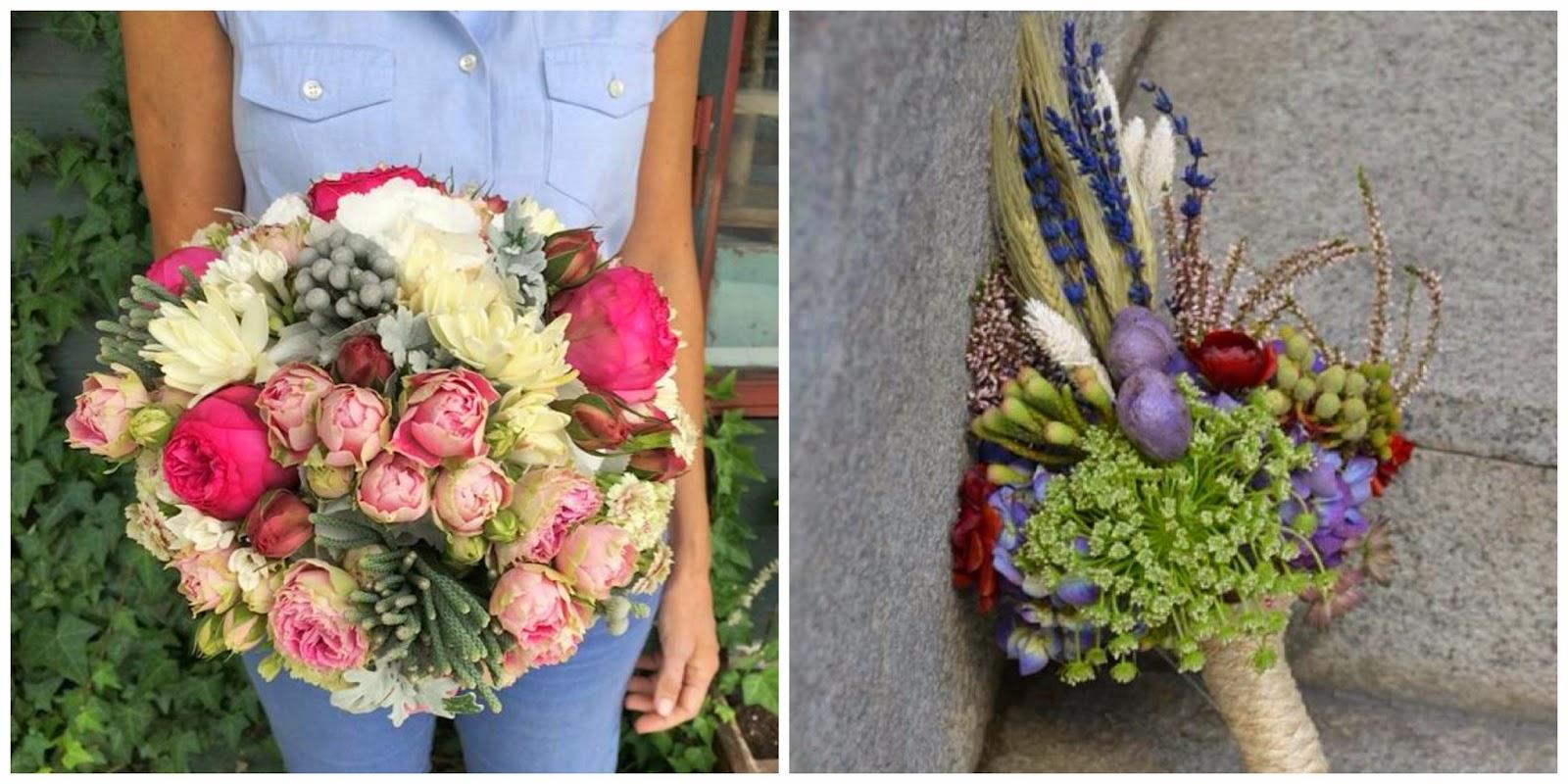 ramos de novia originales decoracion floral verdepimienta blog bodas mi boda gratis