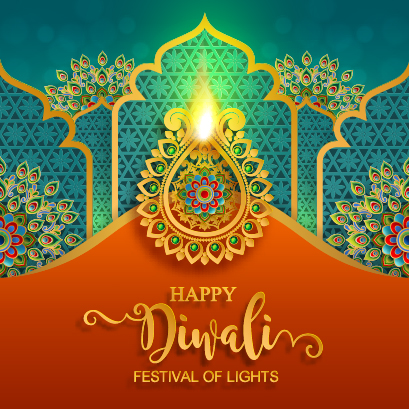 diwali 2019 India diwali elements backgrounds vector Free vector 05 Happy diwali festvial of lights vector material