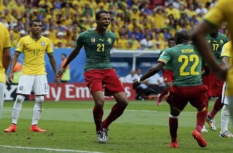 Matip từng làm rung lưới Brazil trong World Cup 2014