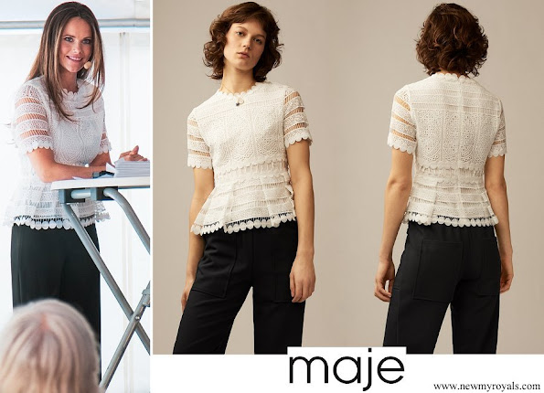 Princess Sofia wore Maje Lace top