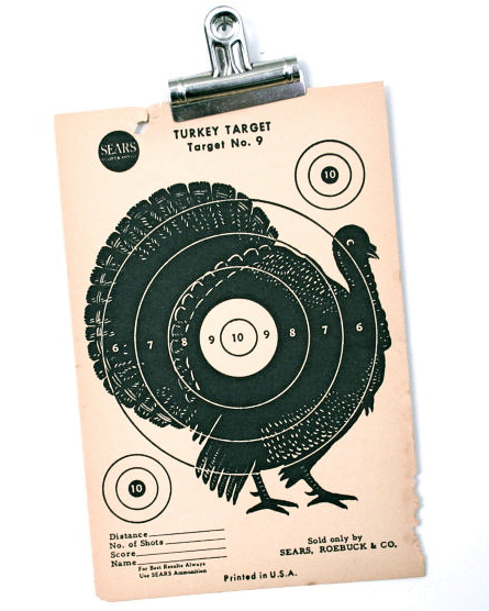 Vintage Turkey Target from Legal Miss Sunshine