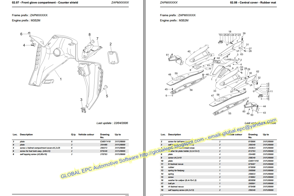 AUTO MOTO REPAIR MANUALS: GILERA NEXUS 500 EURO 3 WORKSHOP