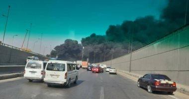 عاجل! انفجار خط بترول ادى الى حريق هائل بالقاهرة طريق الاسماعيلية الصحراوي بالفيديو| ترينداتي