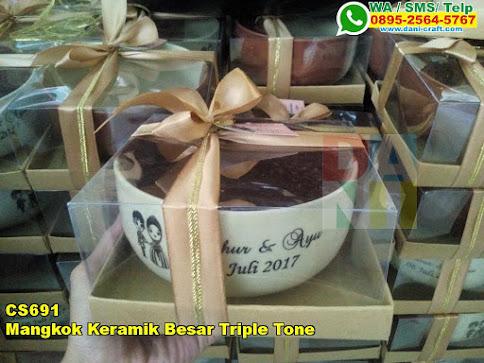 Harga Mangkok Keramik Besar Triple Tone