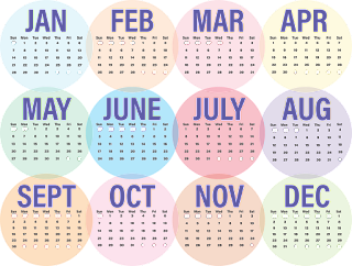 calendar, business, 2018, week, month, day, january, february, march, april, may, june, july, august, september, october, november, december, monday, tuesday, wednesday, thursday, friday, saturday, sunday, circles, planning, schedule, year
