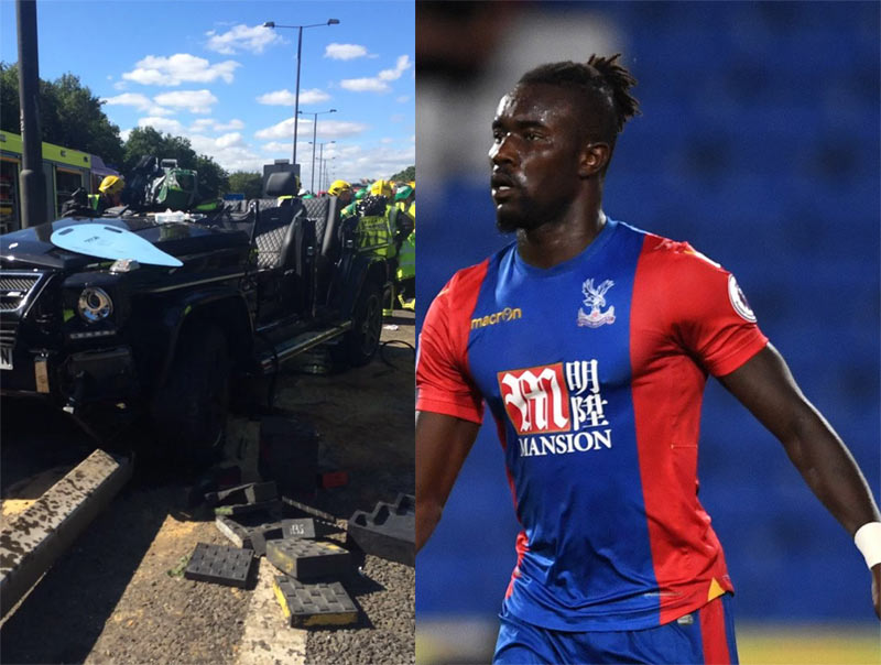 Crystal Palace defender Pape Souare injured after crashing convertible G Wagon
