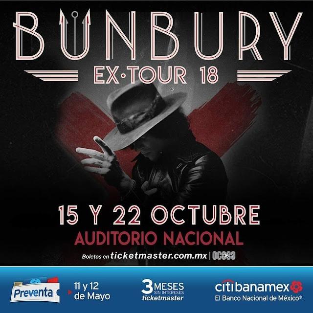 BUNBURY VOLVERÁ A MÉXICO CON MÁS 'EXPECTATIVAS'