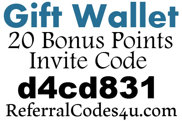 Gift Wallet Invite Code 2016, 20 Bonus Points Gift Wallet App Referral Code, GiftWallet App