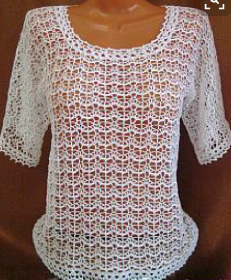 BLOUSE IN CROCHET STANDARD STORE WITH DELICATE DETAILS SEE THE PATTERN BELOW BELOW