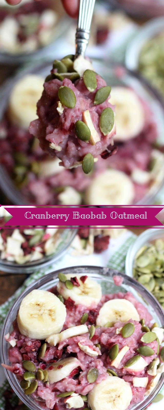 Cranberry Baobab Oatmeal