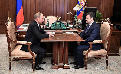 Vladimir Putin and Stanislav Voskresensky in the Kremlin