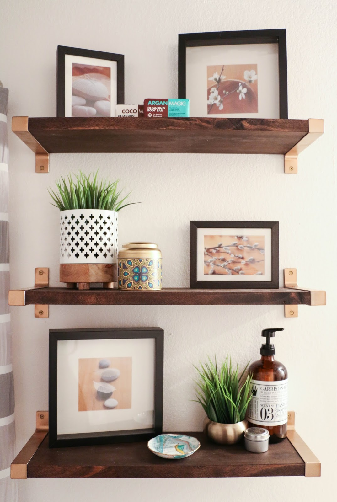 Hack It Walnut And Gold Shelves A Kailo Chic Life