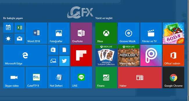 Windows 10 Metro Menü Nasıl 4 Sutun Yapılır?