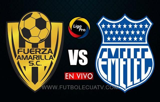 Fuerza Amarilla y Emelec se enfrentan en vivo 📺 a partir de las 15:00 horario de nuestro país por la jornada 17 de la Liga Pro 🏆 a efectuarse en el Estadio Nueve de Mayo, siendo el árbitro principal Roberto Sánchez con transmisión del canal oficial GolTV Ecuador.