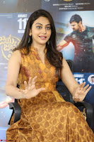 Rakul Preet Singh smiling Beautyin Brown Deep neck Sleeveless Gown at her interview 2.8.17 ~  Exclusive Celebrities Galleries 105.JPG